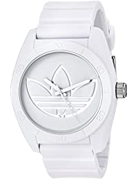 adidas Men's 'Santiago' Quartz Rubber and Silicone Casual Watch, Color:White