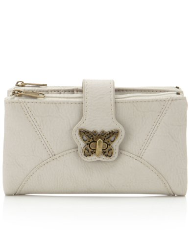 Accessorize Womens Butterfly Soft Foldover Wallet
