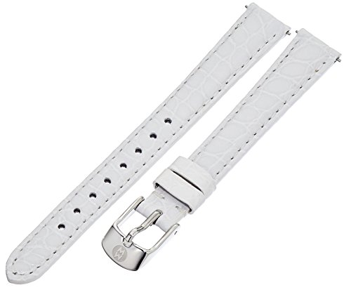 White Alligator Leather Strap (MICHELE MS12AA010100 12mm Leather Alligator White Watch)