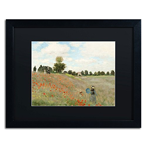 Wild Poppies Near Argenteuil Framed Artwork by Claude Monet, 16 by 20-Inch, (Argenteuil Framed)