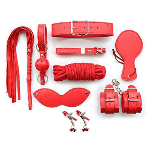 Red Passion Male Mask - Luck7DZ 8 Pcs Adult Toy Binding