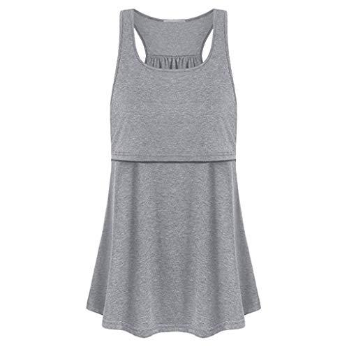 Women's Sexy Tops 2019,Women Maternity Loose Comfy Pull-up Nursing Tank Tops Vest Breastfeeding Shirt Under 10 Dollars]()