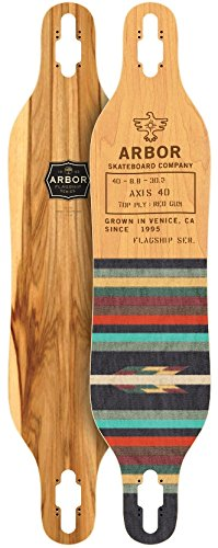 Arbor Axis Axis 40 Flagship Longboard Deck New 2017 With Grip Tape