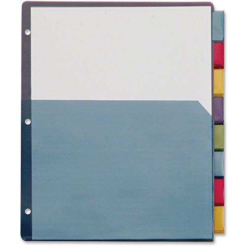 Cardinal 84017 Poly 1-Pocket Index Dividers, Letter, Multicolor, 8-Tabs per Set (Pack of 4 Sets)