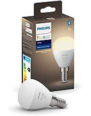 Philips Hue Kogellamp - 1-Pack - E27 - P45 - Duurzame LED Verlichting - Zachtwit Licht - Dimbaar - Verbind met Hue Bluetooth of Bridge - Werkt met Alexa en Google Home