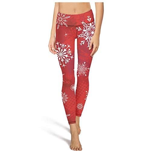 Fiyuihb Merry Christmas Snowflakes Yoga Pants for Women Running Sloth Gym Sports Leggings
