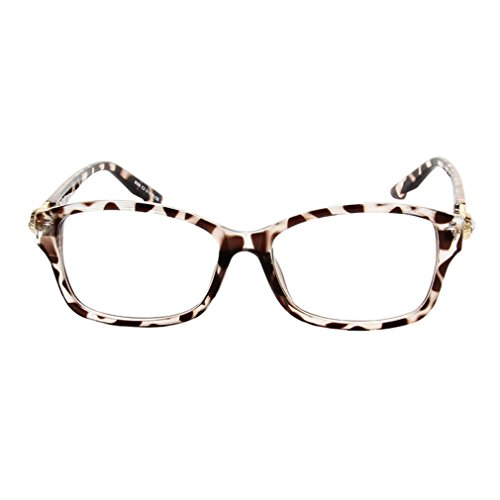 G&T Lady Flat Mirror Fashion Elegant Student Style Clear Lens - Glasses Framless