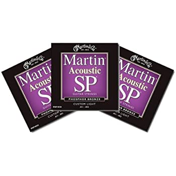 Amazon Com Martin Sp Acoustic Custom Light Guitar Strings