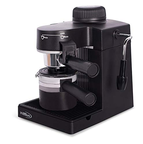Premium PEM350 Espresso Cappuccino Latte Maker Coffee Machine, Hot Milk Steamer Frother