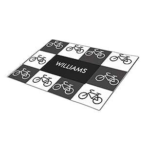 GB Plan Monogrammed Door Mat Multi-Bike - Black and White Foot Mat