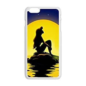 Happy Beautiful sea yellow moon Mermaid Cell Phone Case for Iphone 6 Plus
