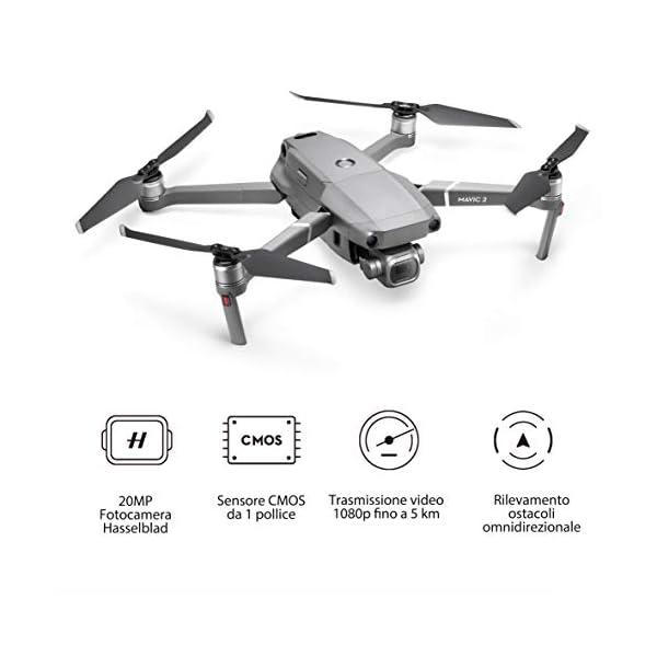 """DJI Mavic 2 Pro Drone con Fotocamera Hasselblad L1D-20c, Video HDR a 10 bit, 31 Min di Autonomia, Sensore CMOS 1"""" 20 MP, Hyperlapse, Rilevamento Ostacoli Omnidirezionale, Grigio 2 spesavip"""