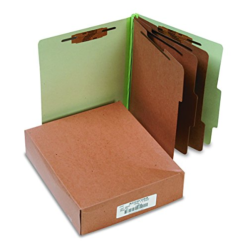Sectioned Top Tab Classification Folders - ACCO 15048 ACCO Pressboard 25-Point Classification Folders, Ltr, 4-Section, Sky BE, 10/Box