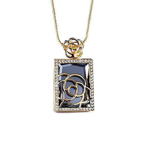 (NL-07062C3 New Style Alloy Inlaid Crystal Women Necklace)