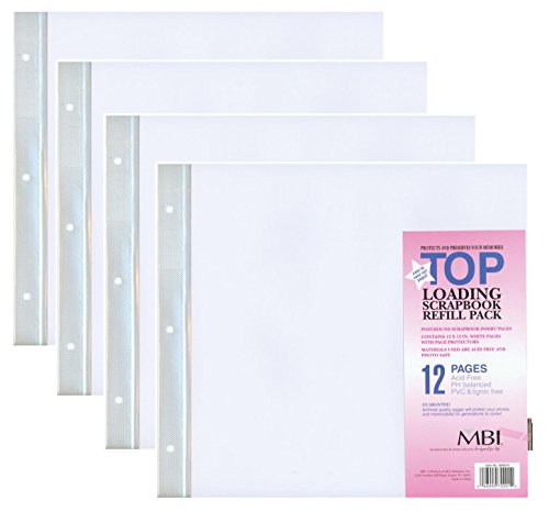 4-PACK - MBI by MCS 12-Inch by 12-Inch Scrapbook Expansion Pages, 6 sheet Count, 12 pages by MBI by MCS Industries