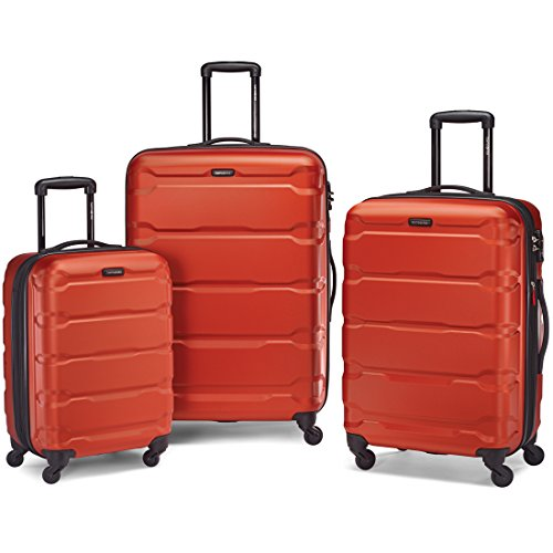 Samsonite 68311-1156 Omni PC Hardside Spinner  20 24 28,  Burnt Orange,  3 Piece Set by Samsonite