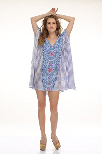 D G PRINTS FAB - Camisola - para mujer azul celeste