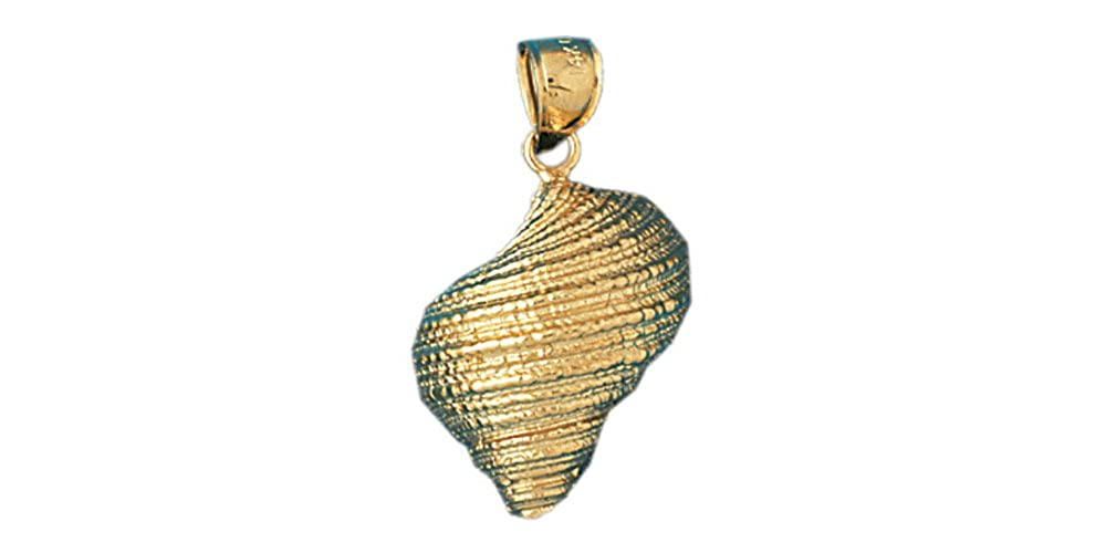 14k Yellow Gold Conch Shell Pendant 16mm x 23mm