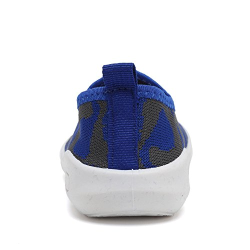 CIOR Kids Slip-on Casual Mesh Sneakers Aqua Water Breathable Shoes For Running Pool Beach (Toddler / Little Kid) SC1599 Blue 16 2