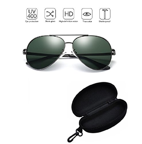 Aviator Sunglasses for Mens Womens Polarized UV400 Protection - Sunglasses Target Reader