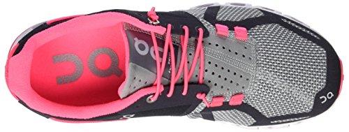 Su Donne Che Eseguono Nuvola Sneaker Grigio / Rosa Neon