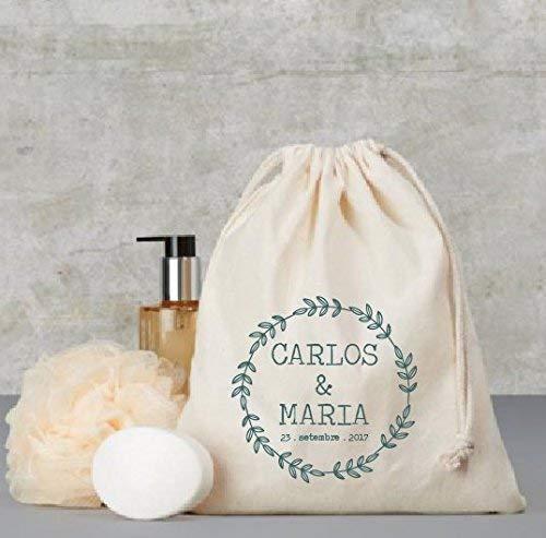Bolsa de algodón personalizada 25 X 30cm - detalle para invitados ...