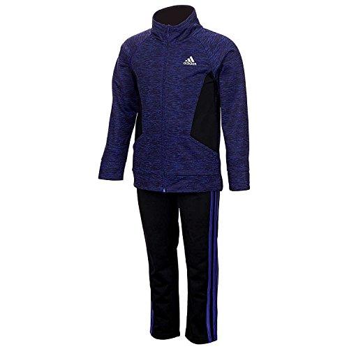 Adidas Big Girls Tricot Zip Jacket and Pant Set (6, Purple)