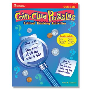 Learning Resources Coin-Clue Puzzles Critical Thinking Activity Book