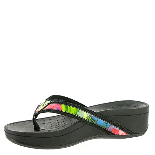 Womens Hightide Pacific Sandals 380 Floral Black Vionic Leather AUEqqw