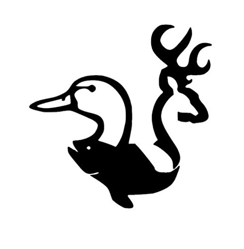 Hunting Duck Fish Deer Buck Vinyl Decal Sticker Car Graphic Fishing Sportsman , Die cut vinyl decal for windows, cars, trucks, tool boxes, laptops, MacBook - virtually any hard, smooth surface