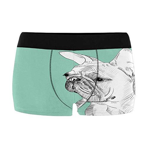 INTERESTPRINT French Bulldog Mens Boxer Shorts XXXL