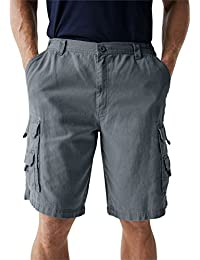 "<span class=""a-offscreen"">[Sponsored]</span>Big & Tall Side Elastic Marine Cargo Shorts in Twill or Denim"
