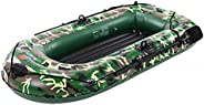 Wfinau 2/3/4 Person Inflatable Kayak, Portable Dinghy Max Load 350-700 lbs, Inflatable Boat Canoe for Adults a