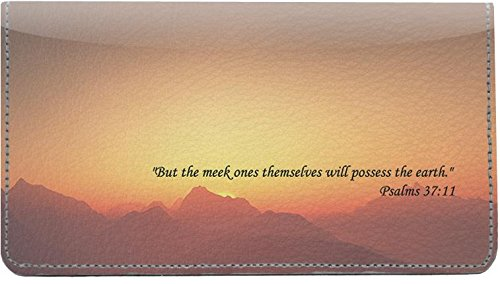 Earthly Promises Leather Checkbook - Cover Leather Checkbook Angels