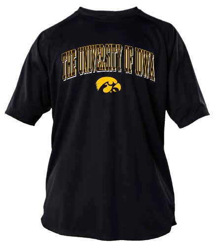 NCAA Iowa Hawkeyes Men's Dri-Power Raglan Tee (Black, Large)