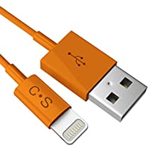 Cloudseller [Apple MFI Certified] iPhone 6 / 6+ / 5 / 5S / 5C / CHARGER LIGHTNING CABLE USB DATA CABLE- 8 Pin - Compatible With IOS 10 , IPHONE 6, 5s, 5c IPOD TOUCH 5 NANO 7 IPAD ® (1 Metre Orange)