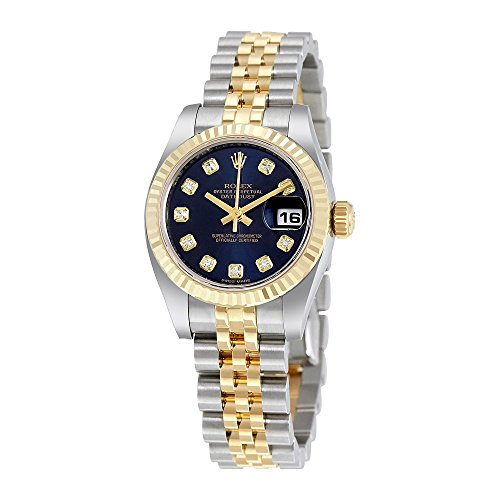 Rolex Lady Datejust 26 Blue Dial Stainless Steel and 18K Yellow Gold Rolex Jubilee Automatic Watch 179173BLDJ