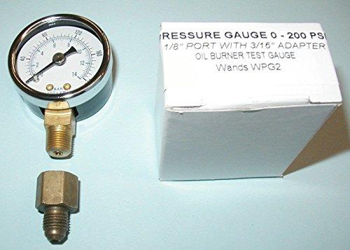 NEW Oil Burner Fuel Pressure Test Gauge for Beckett, Suntec, Webster & Danfoss Pumps