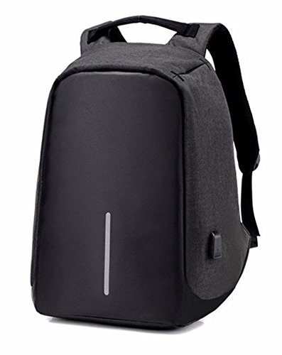Fashion Anti-theft USB Charging Travel Backpack Laptop Notebook Christmas Gift (black) from Unknown