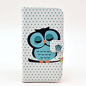 SHOUJIKE Sleeping Owl Pattern PU Leather with Soft Case and Card Slot for Samsung Galaxy S5 I9600