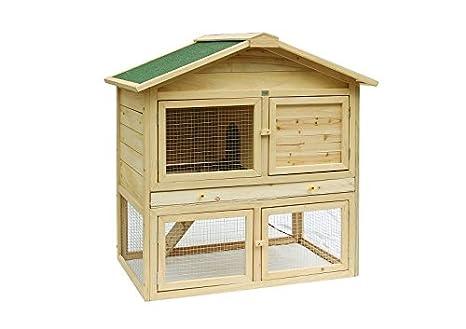 mypets® conejeras jaula Conejos Aldaba XL hámster Conejo jaula con cajones extraíble: Amazon.es: Productos para mascotas