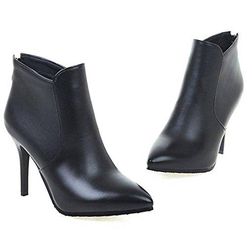 Coolcept Boots Heel Women 47 High Dress Black Ankle Fashion PxOqpPrH
