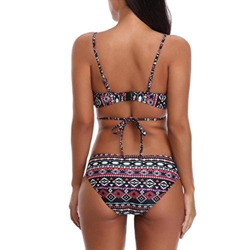 Bagno Imbottito Bagno Up Stampa Set Bikini Nero Costume Fami Costumi Reggiseno Bagno Costume Push geometrica Da stampa Da Donne Da qxAgwRUS