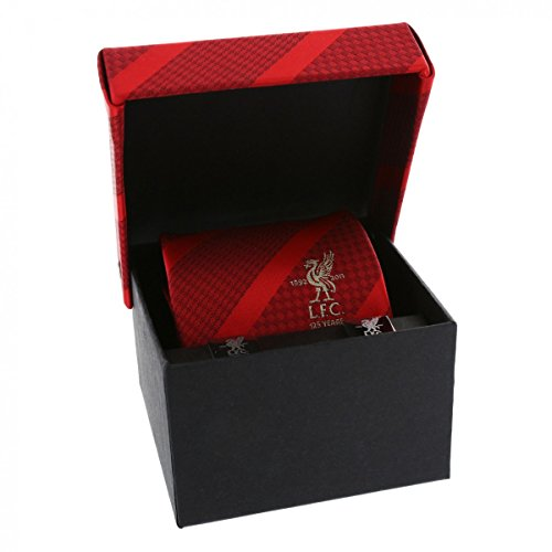 Liverpool FC Authentic Mens 125 Anniversary Tie and Cufflink Gift Box Set