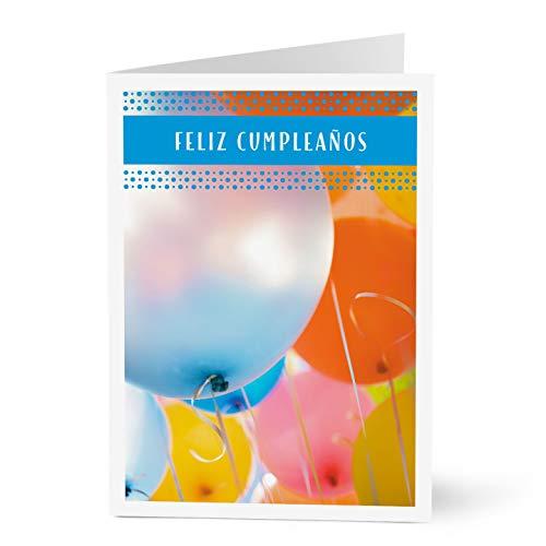 Hallmark Business Birthday Card for Customers in Spanish (Birthday Balloons Spanish) (Pack of 25 Greeting Cards) (Best Wishes In Spanish Birthday)