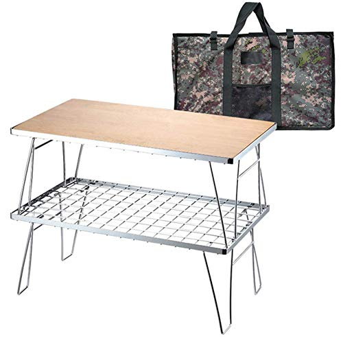 Acampa plegable, mesa de picnic, portatil de acero inoxidable multiuso pequeno escritorio plegable con bolsa de almacenamiento for la pesca del partido de jardin barbacoa Patio lalay (Color : D)
