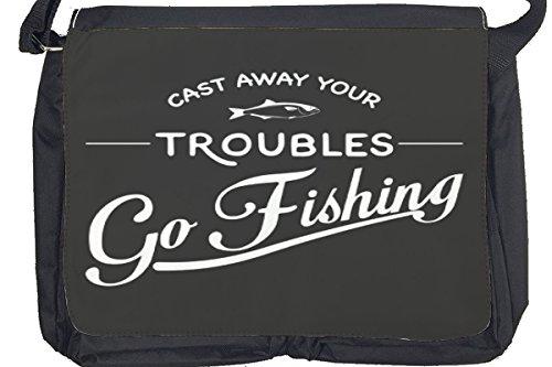 Borsa Tracolla Retro Pesca Stampato