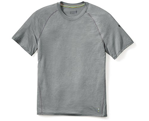 SmartWool Men's Merino 150 Baselayer Pattern Short Sleeve Light Gray Medium