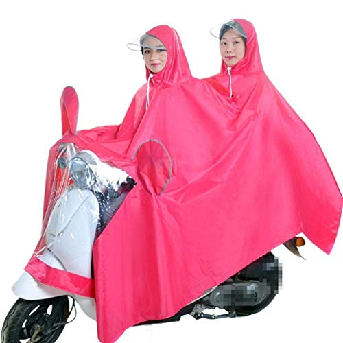 Pluie Tissu Poncho De Veste Casual Double Imperméable Moto Extérieure Pink Oxford Dame Réfléchissante C66gqx4w