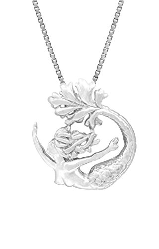 - Honolulu Jewelry Company Sterling Silver Mermaid Necklace Pendant with 18